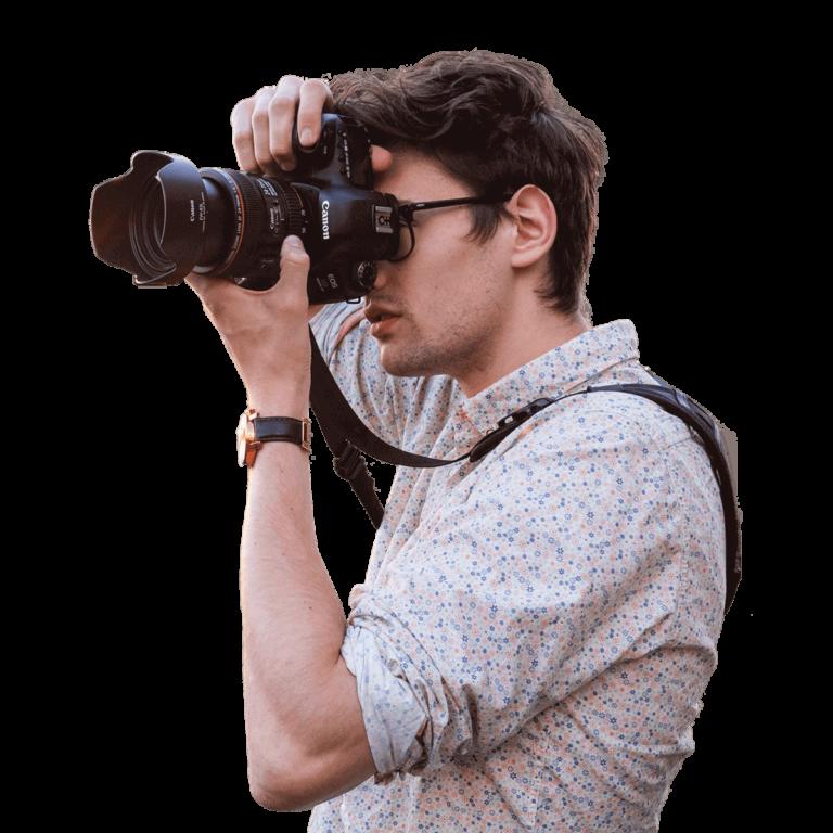 Moritz Leisen mit Kamera